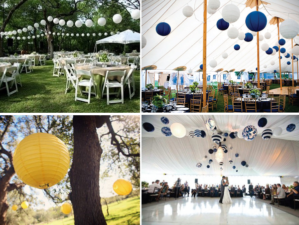 Lampionnen bruiloft_decoratie