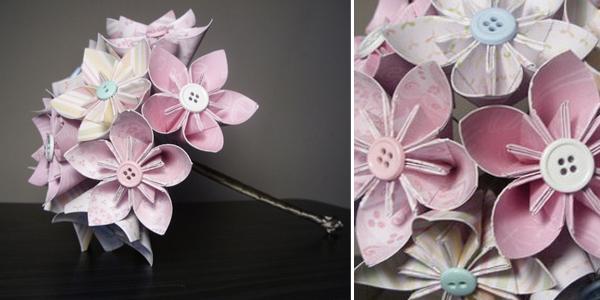 Origami bruidsboeket