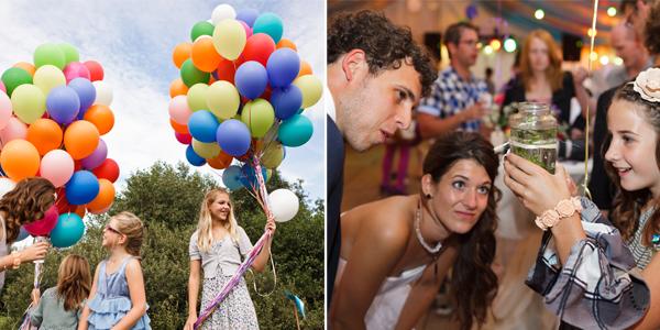 Ballonnen bij het Feliciteren