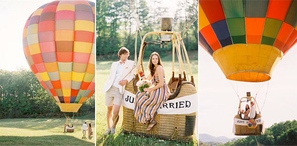Luchtballon Bruiloft