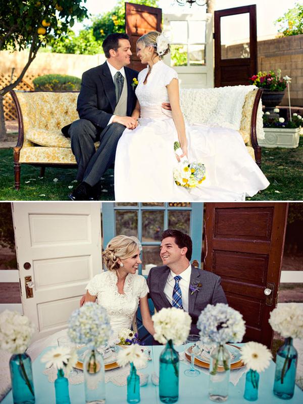 Deuren als backdrop op je bruiloft