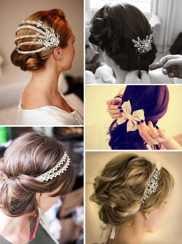 Haar accessoires bruiloft