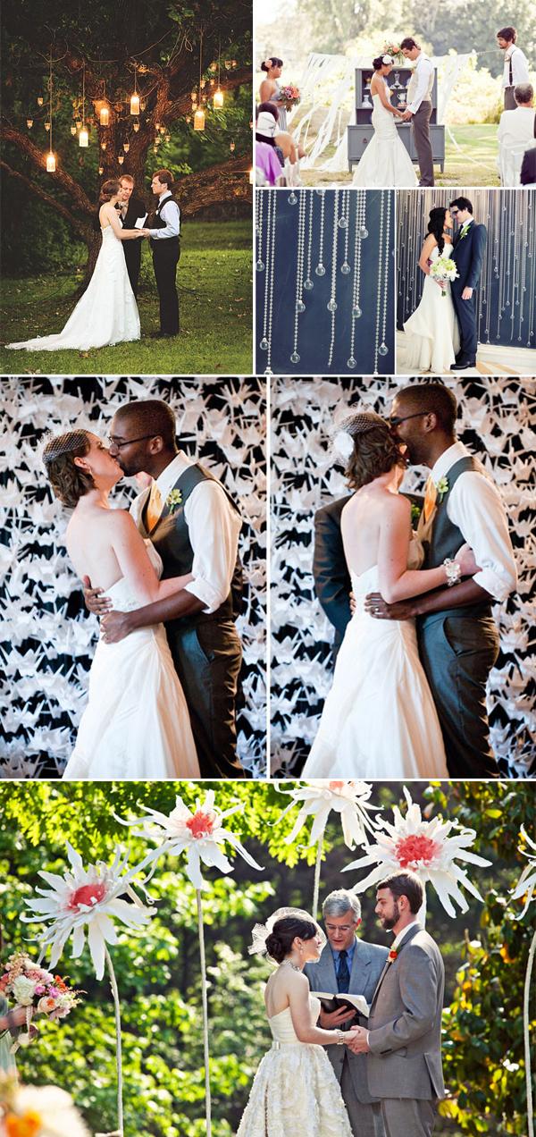 Vintage bruiloft achtergrond ceremonie