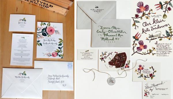 Creatieve vintage uitnodigingen