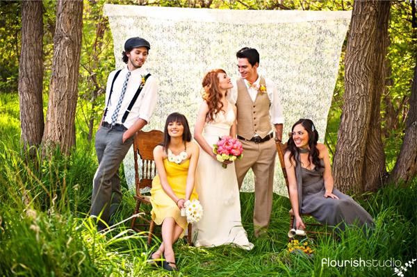 Je gasten als decoratie op je bruiloft