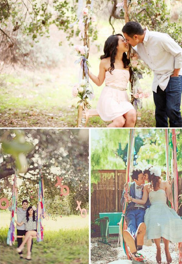 Schommelen tijdens de bruiloft
