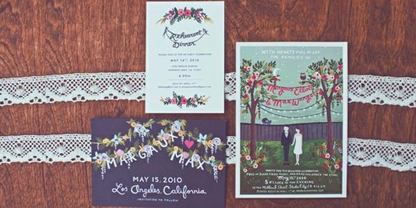 Vintage uitnodiging bruiloft