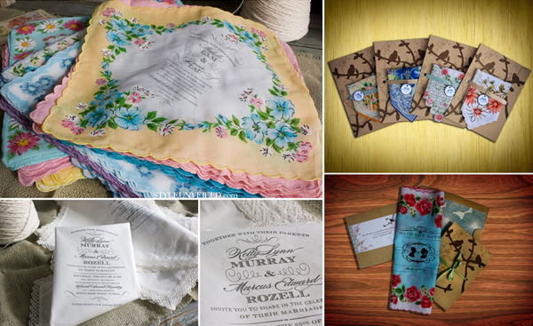 Zakdoekjes als trouwkaart