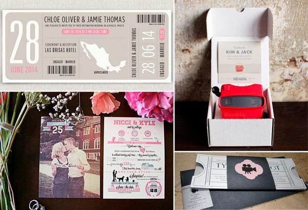 originele uitnodigingen bruiloft