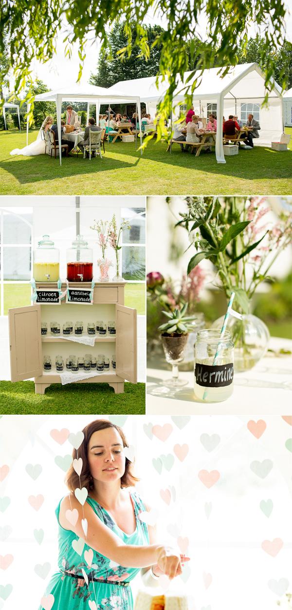 Picknick en bruidstaart