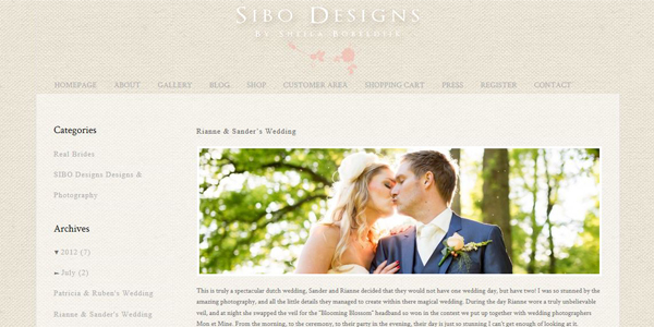 SIBO designs real wedding