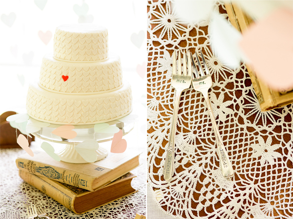 Stijlvolle bruidstaart