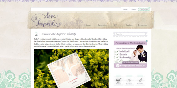 Wedding Love and Lavender