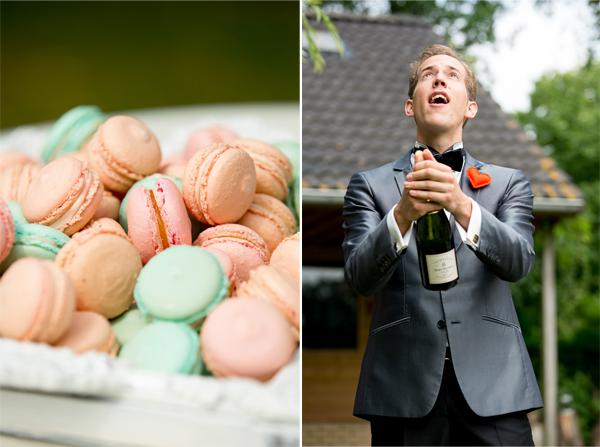 macarons en champagne