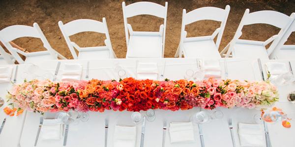 Centerpiece ombre bloemen