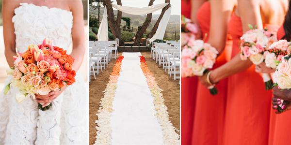 Ombre styling bruiloft