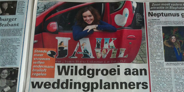 Wildgroei aan Weddingplanners