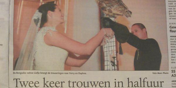artikel Gelderlander - trouwevent