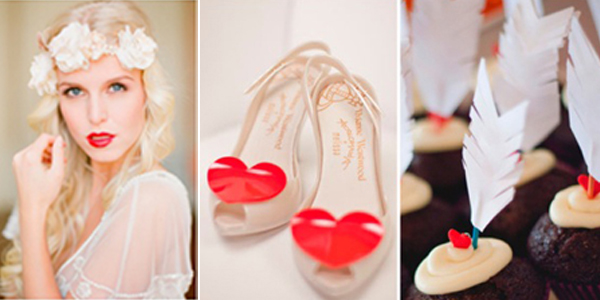 valentijn hartjes bruid trouwschoenen
