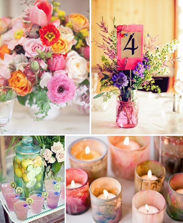 Pasteltinten bloemen bruiloft