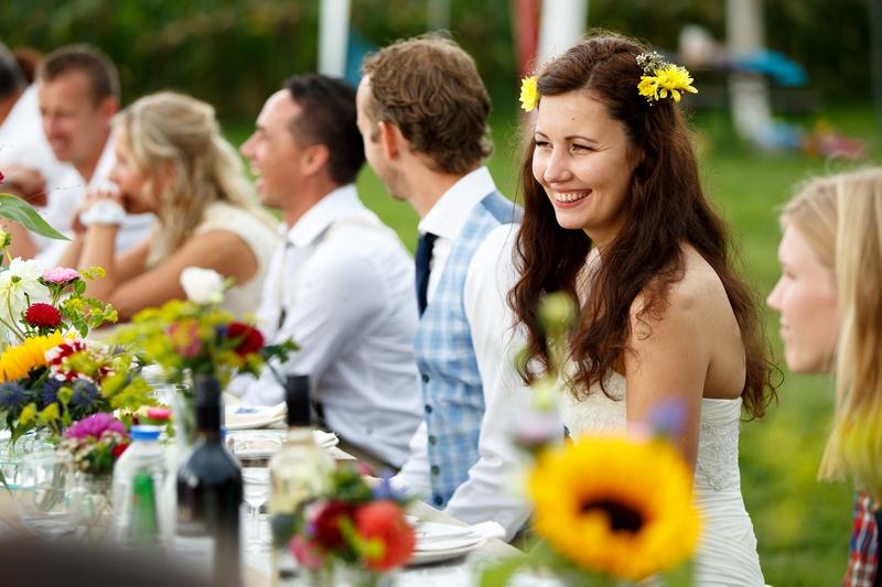 Boho festival wedding at their own backyard