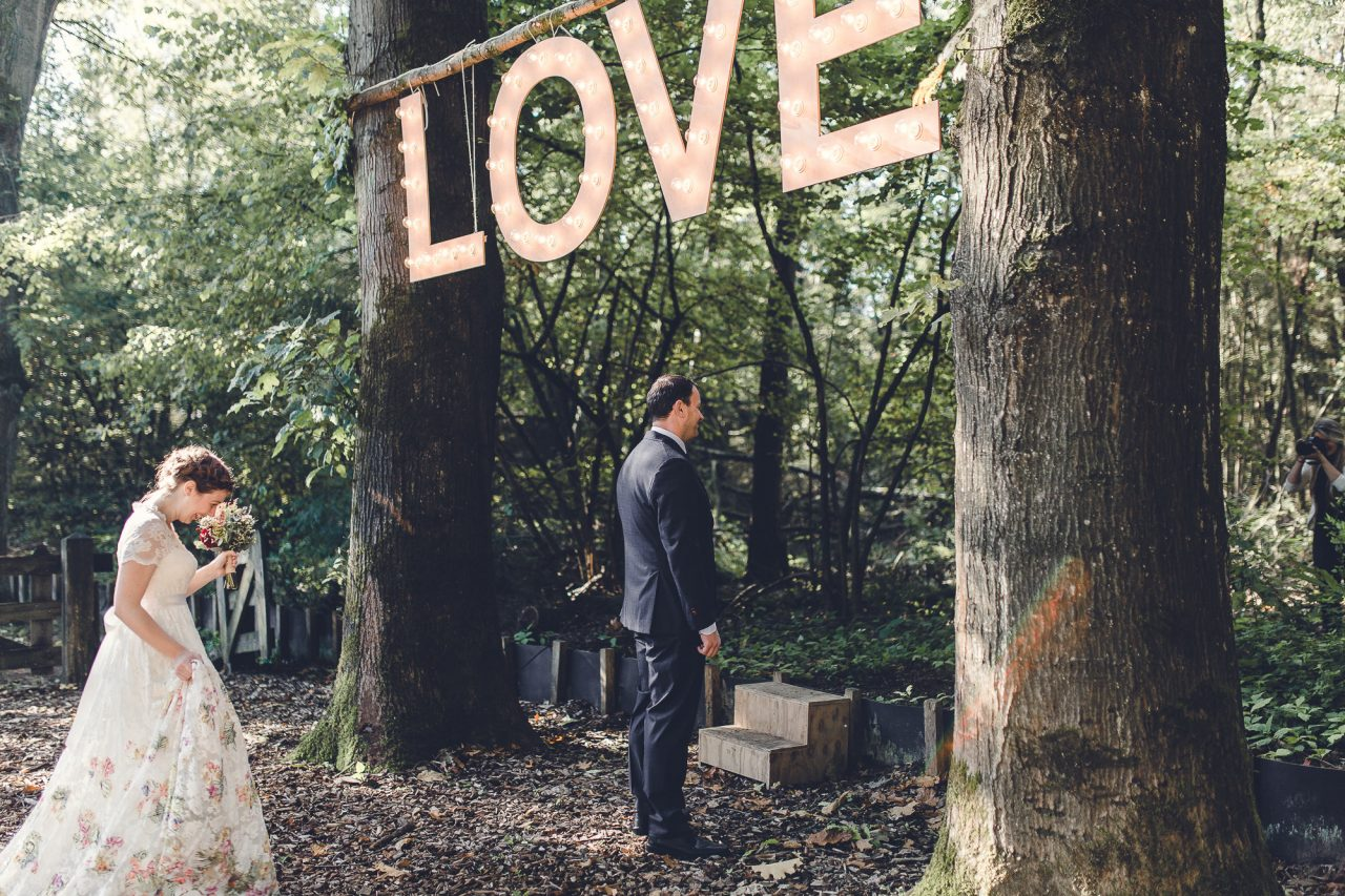 Fall wedding in the woods of Meneer van Eijck