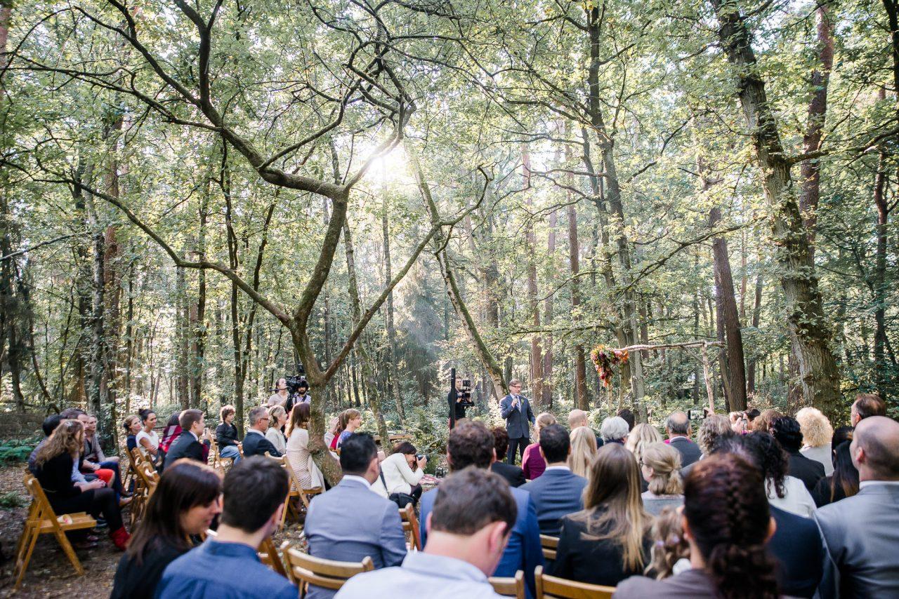 Herfstbruiloft in de bossen bij Meneer van Eijck