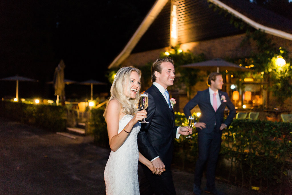 Vineyard wedding at Domaine Heerstaayen