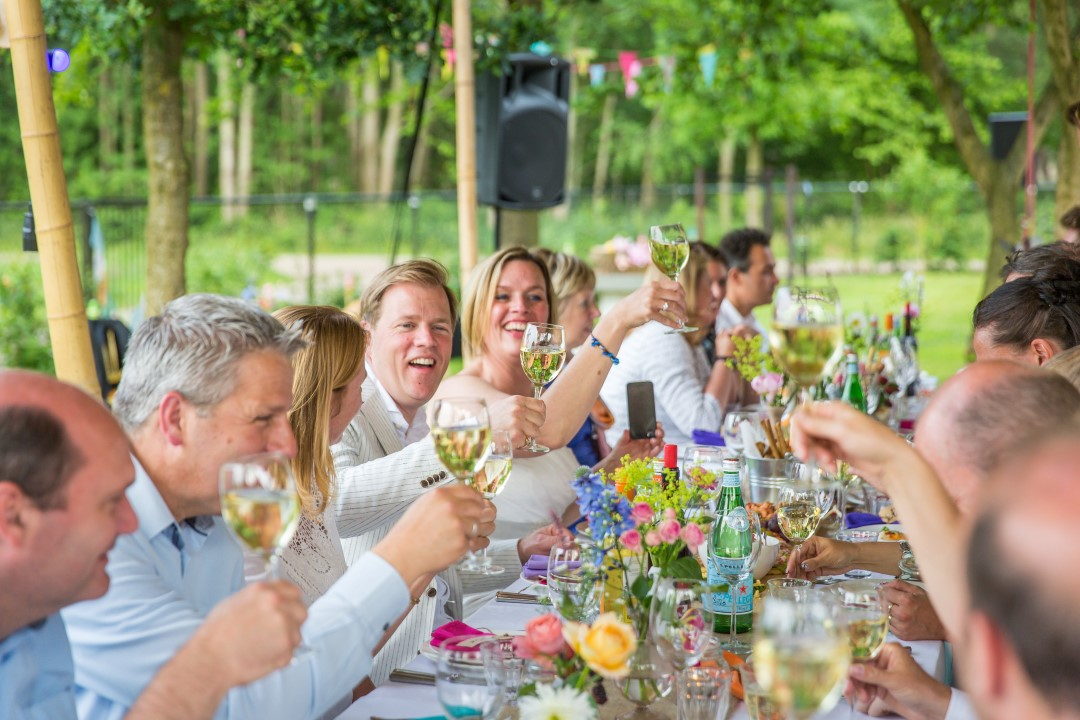 Colorful backyard wedding in the Netherlands