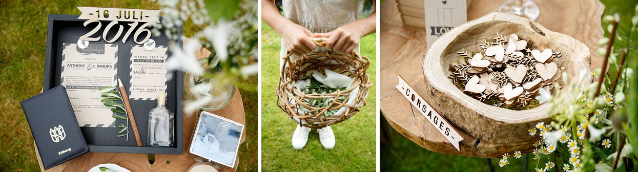 Island wedding in the woods & in the meadow