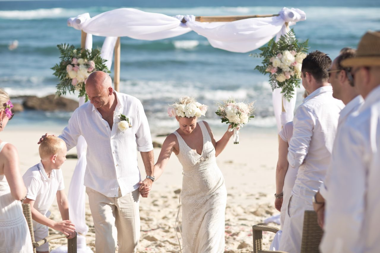 Bali beach wedding boho inspired