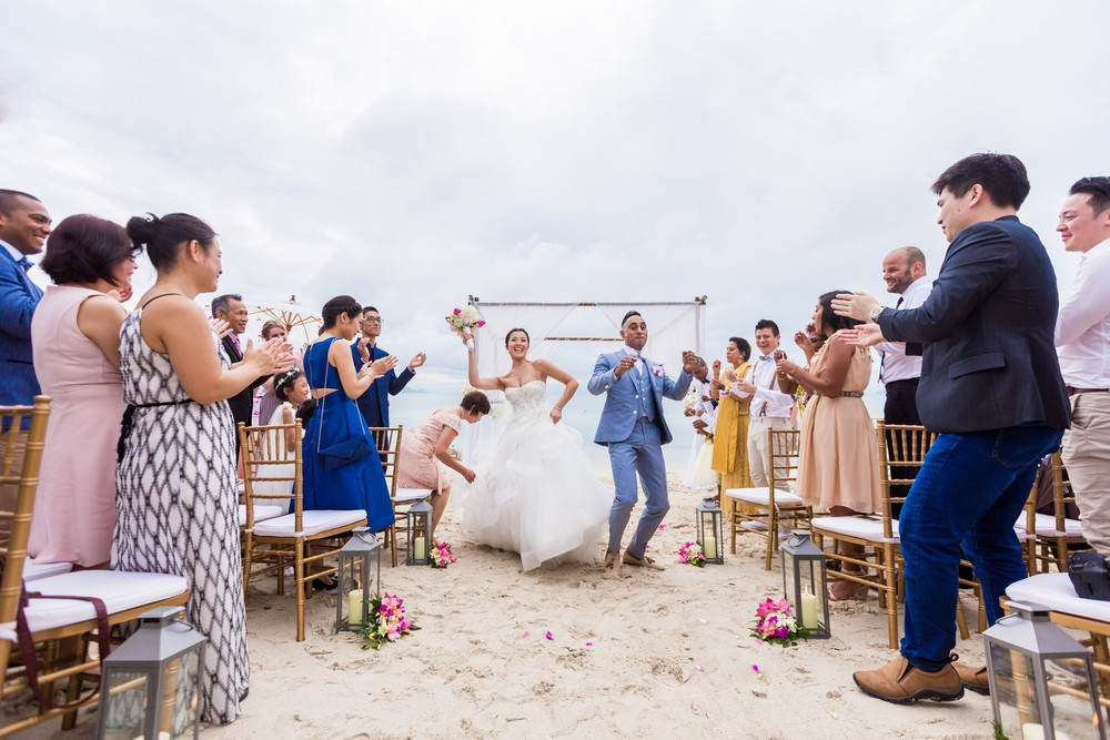 Multicultural wedding on Koh Samui, Thailand