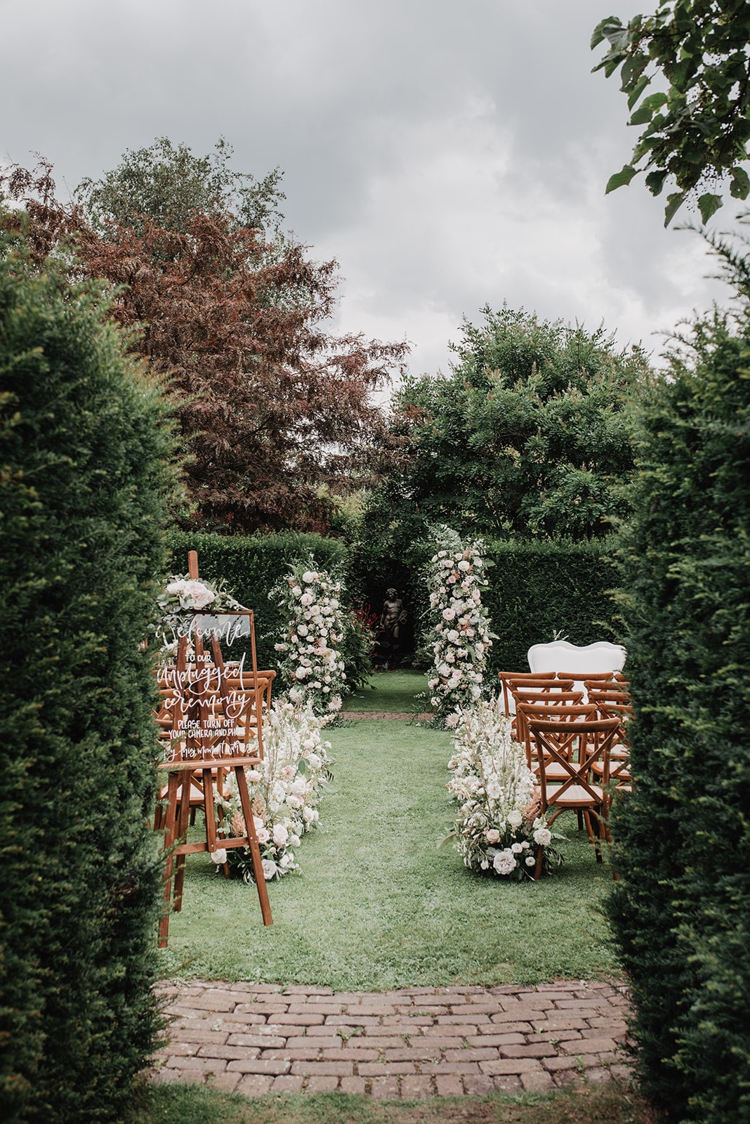 Romantic chic outdoor wedding with a French twist
